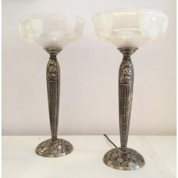 Pair of Art Déco Table Lamps (Ezan/France)