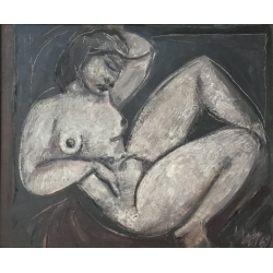 SOLD -- Female nude lying,...
