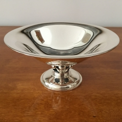 Danish Silver Bowl on Foot,...