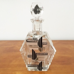 Art Déco Liqueur Carafe in crystal, Bohemia