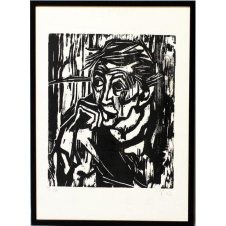 """Heinz Tetzner (1920 - 2007) Holzschnitt """"Mutter"""", 1980"""
