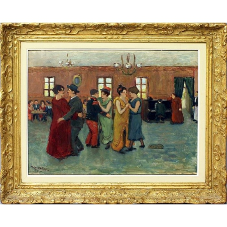 Grass - Mick, Augustin (1873 -1963), Café with dancing people,1920