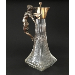 SOLD - Art Nouveau Carafe with figure