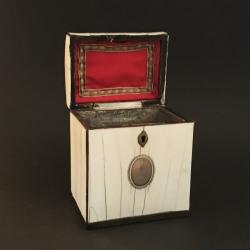 English Art Deco Tea Box in Ivory