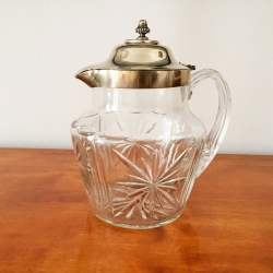 Crystal Carafe with Silver Lid, JWB Sheffield