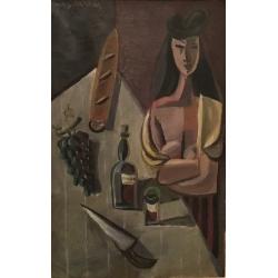 "Serge Creuz (1924-1996) ""Buveuse de Rancio"", 1947"