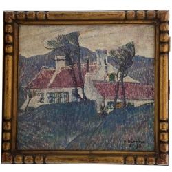 """Alfons Blomme (1889-1979) """"Maison au toit rouge"""", 1926"""