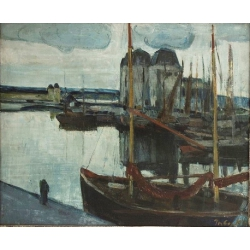 Philibert Cockx (1879-1949), Le Port de Pêche