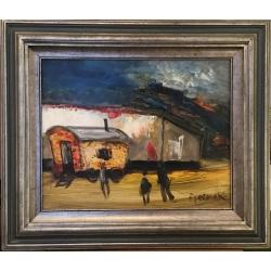 Paul Permeke (1918-1990), Les enfants devant la roulotte
