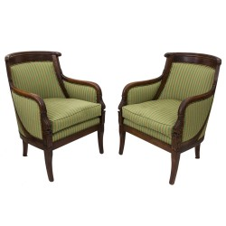Pair of Armchairs Empire, Bergères, France