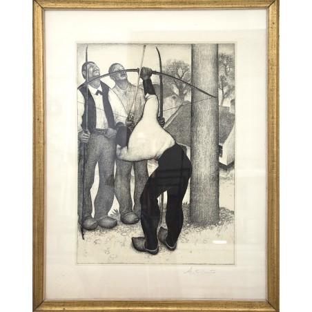 """SOLD - Anto Carte (1886-1954) """"Les archers"""""""