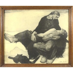 "SOLD - Anto Carte (1886-1954) ""Pietà"""