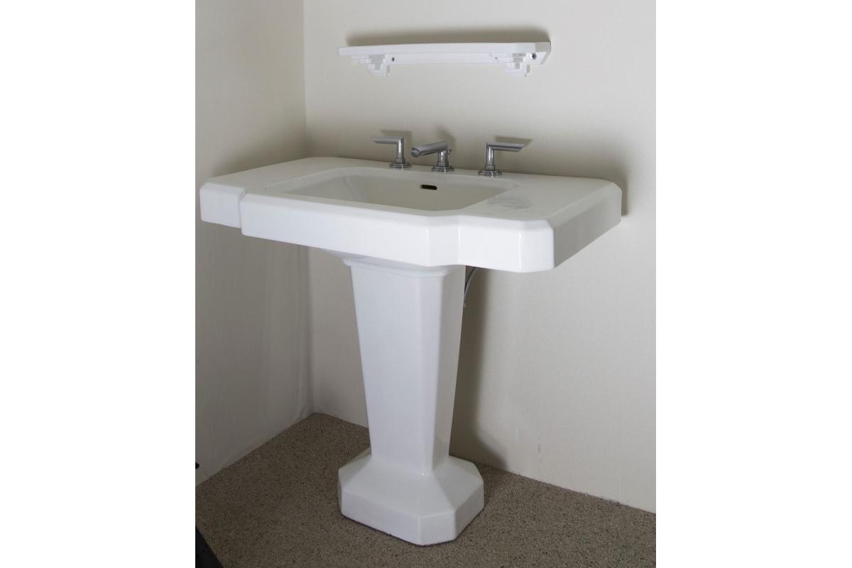 art d co waschbecken aus wei em marmor frankreich. Black Bedroom Furniture Sets. Home Design Ideas