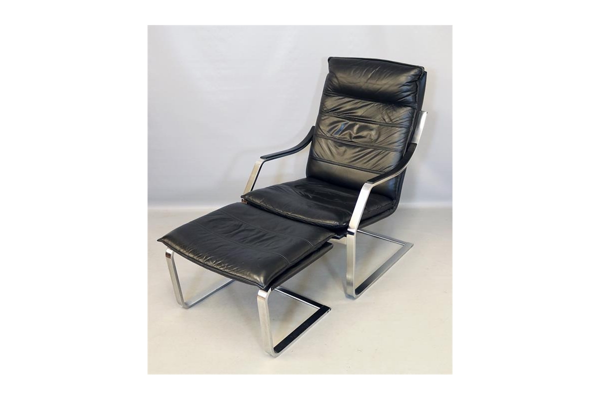 """High-back Armchair with footboard, Walter Knoll """"Art Collection"""""""