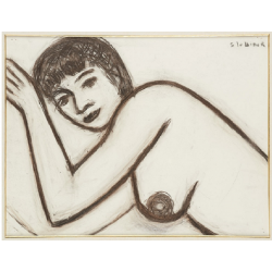Rik Slabbinck (1914-1991), lying nude in profile